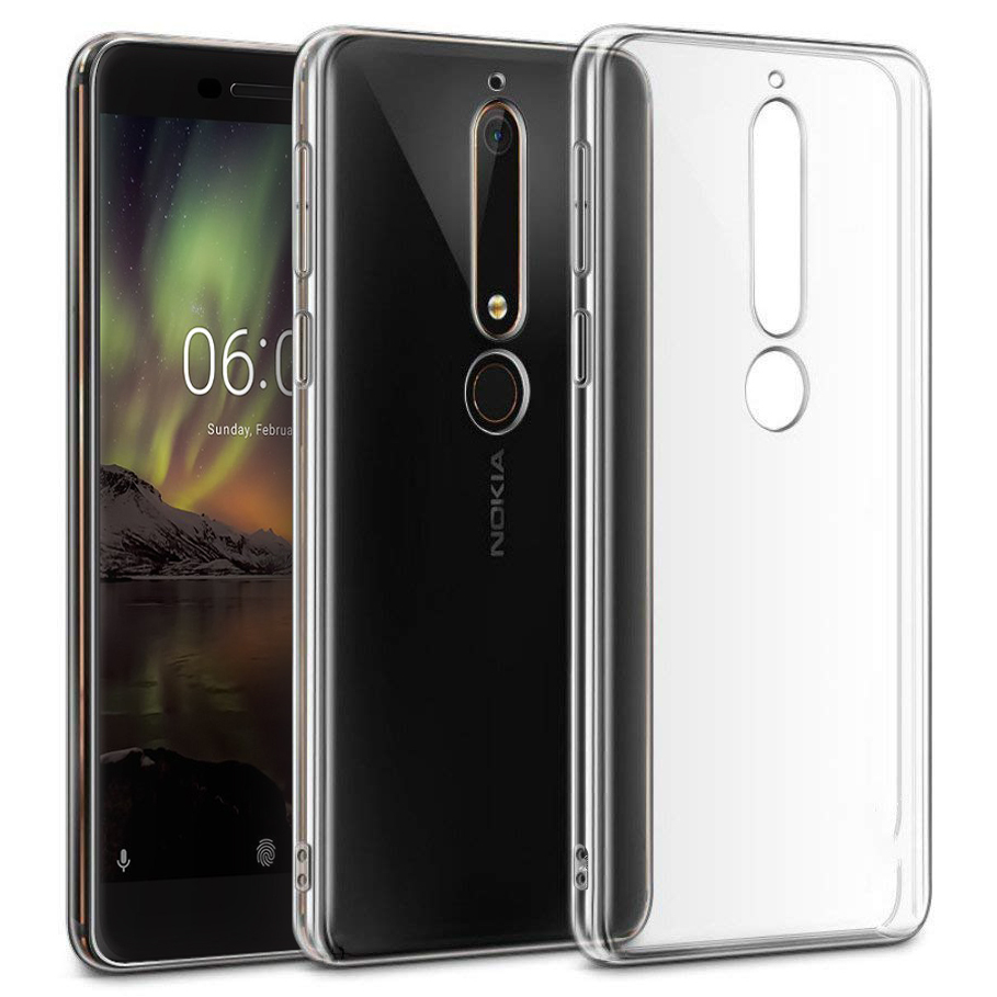 premium selection 5ceb4 feaaa Flexi Slim Crystal Gel Case for Nokia 6.1 (2018) - Clear